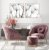 Conjunto com 02 quadros decorativos Dente-de-leão em Preto e Branco - Imagem 3