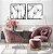 Conjunto com 02 quadros decorativos Dente-de-leão em Preto e Branco - Imagem 2