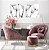 Conjunto com 02 quadros decorativos Dente-de-leão em Preto e Branco - Imagem 1