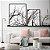 Conjunto com 02 quadros decorativos Galhos em P&B - Imagem 1