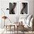 Conjunto com 02 quadros decorativos Formas Abstratas - Imagem 2