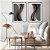 Conjunto com 02 quadros decorativos Formas Abstratas - Imagem 1