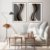 Conjunto com 02 quadros decorativos Formas Abstratas - Imagem 3