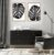 Conjunto com 02 quadros decorativos Costela-de-adão P&B - Imagem 1