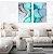 Conjunto com 02 quadros decorativos Abstrato Colors - Imagem 1