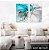 Conjunto com 02 quadros decorativos Abstrato Gold Duo 50x70cm (LxA) Moldura Preta - Imagem 1