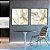Conjunto com 02 quadros decorativos Ouro Abstrato - Imagem 2