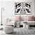 Conjunto com 02 quadros decorativos Linhas Preto e Branco - Imagem 1