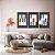 Conjunto com 03 quadros decorativos Geometric Blue - Imagem 1
