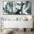 Conjunto com 03 quadros decorativos Dourado Abstrato - Imagem 1