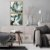 Conjunto com 02 quadros decorativos Abstrato Dourado - Imagem 1
