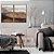 Conjunto com 02 quadros decorativos Pintura Aquarela  - Imagem 1
