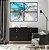 Conjunto com 04 quadros Decorativos Pintura Abstrata - Imagem 1