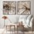 Conjunto com 02 quadros decorativos Árvores Sépia - Imagem 1