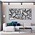 Conjunto com 02 quadros decorativos Formas Abstratas P&B - Imagem 1