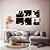Conjunto com 06 quadros decorativos Pintura Abstrata - Imagem 1