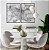 Conjunto com 02 quadros decorativos Movimento Abstrato - Imagem 2