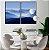 Conjunto com 02 quadros decorativos Horizonte - Imagem 3