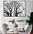 Conjunto com 02 quadros decorativos Natureza em P&B - Imagem 3