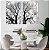Conjunto com 02 quadros decorativos Natureza em P&B - Imagem 2