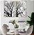 Conjunto com 02 quadros decorativos Natureza em P&B - Imagem 1