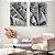 Conjunto com 02 quadros decorativos Folhas Bananeira - Imagem 2