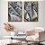 Conjunto com 02 quadros decorativos Folhas Bananeira - Imagem 3