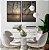 Conjunto com 02 quadros decorativos Pôr do Sol - Imagem 1
