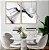 Conjunto com 02 quadros decorativos Abstrato Preto & Branco - Imagem 3