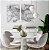 Conjunto com 02 quadros decorativos Movimento Abstrato 50x70cm (LxA) Moldura Preta - Imagem 1