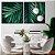 Conjunto com 02 quadros decorativos Palm - Imagem 1
