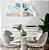 Conjunto com 02 quadros decorativos Abstract Gold 40x40cm (LxA) Moldura Branca - Imagem 1