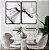 Conjunto com 02 quadros decorativos Abstrato Preto e Branco 50x70cm (LxA) Moldura Preta - Imagem 1