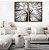 Conjunto com 02 quadros decorativos Nature 50x70cm (LxA) Moldura Preta - Imagem 1