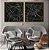 Conjunto com 02 quadros decorativos Linhas  - Imagem 1