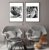 Conjunto com 02 quadros decorativos Folhas  - Imagem 2