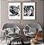 Conjunto com 02 quadros decorativos Folhas  - Imagem 1