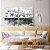 Conjunto com 02 quadros decorativos Cinza - Imagem 1