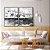 Conjunto com 02 quadros decorativos Cinza - Imagem 2