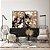Conjunto com 02 quadros decorativos Abstrato Marrom - Imagem 1