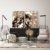 Conjunto com 02 quadros decorativos Abstrato Marrom - Imagem 3