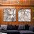 Conjunto com 02 quadros decorativos Abstrato Marrom e Preto - Imagem 2