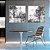 Conjunto com 02 quadros decorativos Abstrato Cinza - Imagem 3