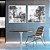 Conjunto com 02 quadros decorativos Abstrato Cinza - Imagem 1