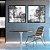 Conjunto com 02 quadros decorativos Abstrato Cinza - Imagem 2