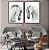 Conjunto com 02 quadros decorativos Cavalos Brancos - Imagem 3