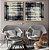 Conjunto com 02 quadros decorativos Geométrico Azul Escuro - Imagem 3