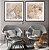 Conjunto com 02 quadros decorativos Arte Abstrata Bege e Cinza - Imagem 3