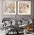 Conjunto com 02 quadros decorativos Arte Abstrata Bege e Cinza - Imagem 4