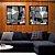 Conjunto com 02 quadros decorativos Geométrico Preto e Branco - Imagem 4